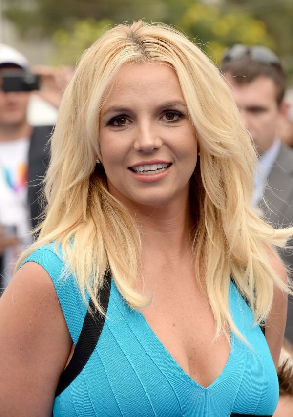 Britney Spears Mini Dress Blue