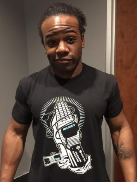 Xavier Woods Chest Biceps size