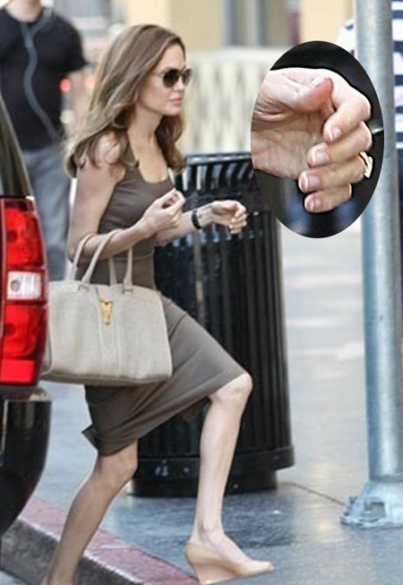 Angelina Jolie Shows Off Her Hot Engagement Ring And