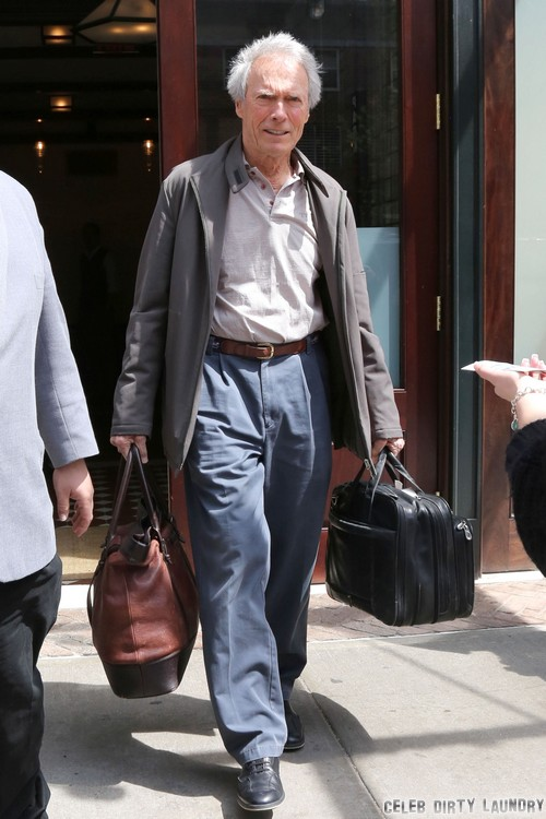 Clint Eastwood Leaving His Hotel In NYC Celeb Dirty Laundry