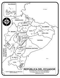 Mapa de Ecuador con nombres de provincias y capitales para ...