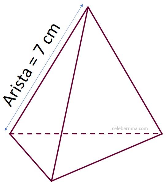 Ejemplo Y Fórmula Volumen De Un Tetraedro Regular Pirámide