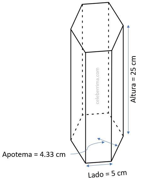 Ejemplo Y Fórmula Volumen Prisma Recto Base Hexagonal Celebérrima Com