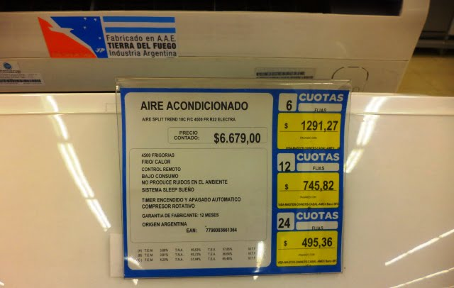 arjantin fiyatlar