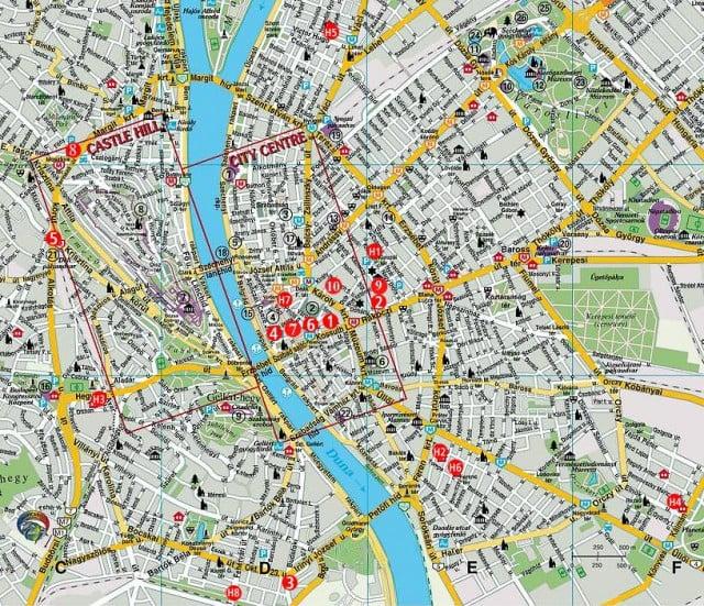 budapeşte şehir haritası ile ilgili görsel sonucu