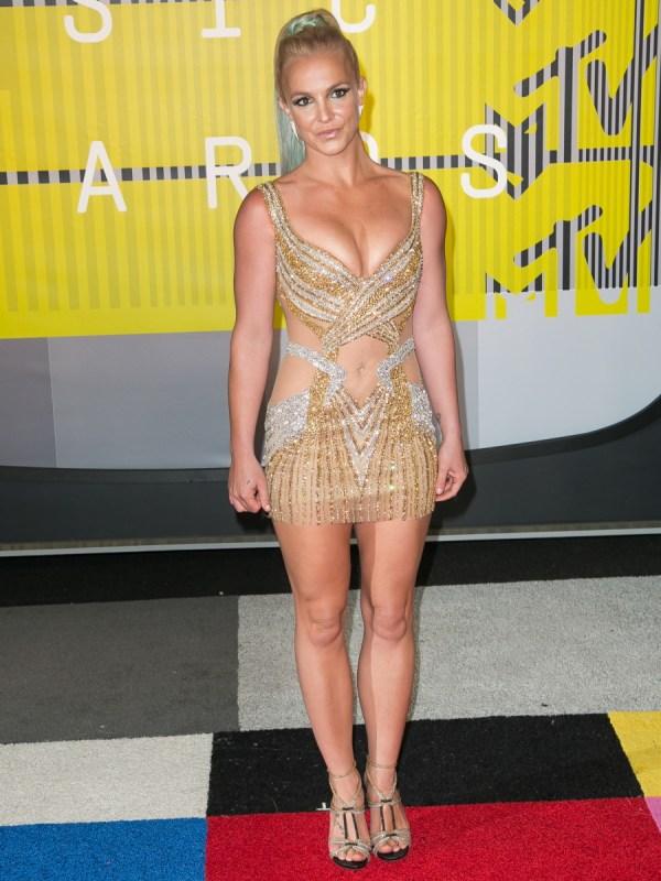 Cele Bitchy Britney Spears In Labourjoisie 2015 Vmas Improved Bronzed