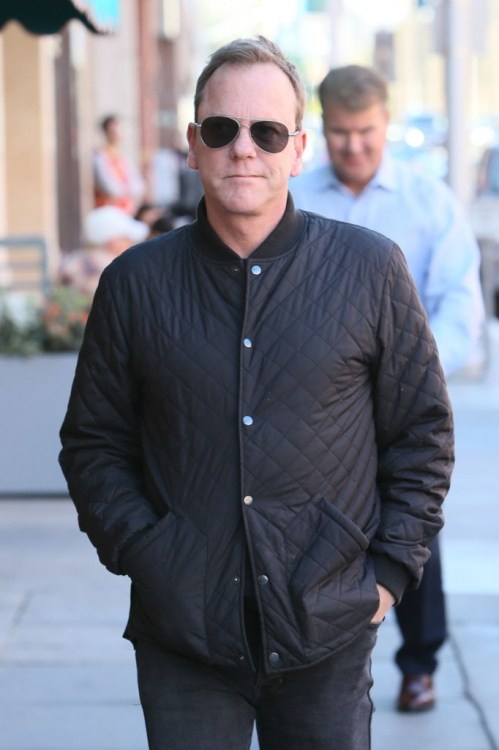 Kiefer Sutherland seen going to the doctors in Beverly Hills