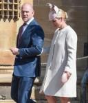 La famiglia reale partecipa al servizio pasquale nella cappella di San Giorgio, Windsor