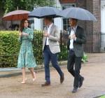Il principe William, il duca di Cambridge e il principe Harry partecipano a un evento a Kensington Palace