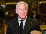 Lobbista conservatore e consulente Roger Stone parla alla stampa alla Trump Tower