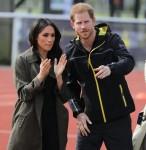 Il principe Harry e Meghan Markle partecipano alle prove del team britannico a Bath