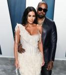 Kim Kardashian West e Kanye West arrivano al Vanity Fair Oscar Party 2020 che si tiene al Wallis Ann ...