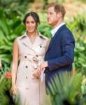 Il principe Harry della Gran Bretagna e sua moglie Meghan, il duca e la duchessa del Sussex in Sud Africa