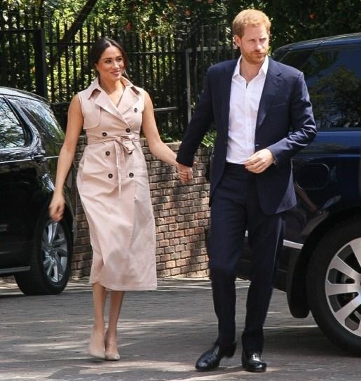 Il principe Harry e Meghan Markle visitano Johannesburg