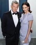 David Foster e Katharine McPhee arrivano al Vanity Fair Oscar Party 2020 che si tiene al Wallis Anne ...
