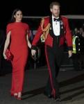 Il Duca e la Duchessa di Sussex arrivano all'Albert Hall per il Mountbatten Festival of Music questa sera 7 - marzo - 2020