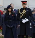 Il principe Harry e Meghan, la duchessa del Sussex, partecipano al 91 ° Field of Remembrance presso l'Abbazia di Westminster a Londra, giovedì 7 novembre 2019.