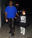 Kanye West ha annunciato a North West la sua campagna presidenziale 2020 all'Hakkasan di Londra!