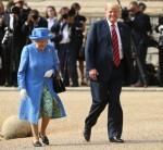 Il presidente degli Stati Uniti e la signora Trump incontrano Sua Maestà la regina