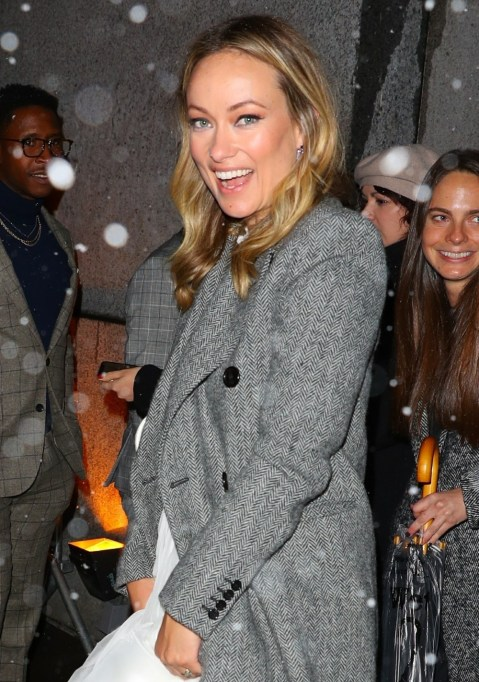 Olivia Wilde e Jason Sudeikis lasciano Cipriani Wall Street dopo aver partecipato ai Gotham Awards
