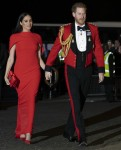 The Duke and Duchess of Sussex arrive at the Albert Hall for the  Mountbatten Festival of Music this evening 7 - March - 2020