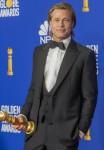 Brad Pitt posa nella sala stampa dei 77th Annual Golden Globe Awards, Golden Globes, all'Hotel Beverly Hilton di Beverly Hills, Los Angeles, USA, il 05 gennaio 2020. | utilizzo in tutto il mondo