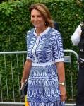 Carole Middleton partecipa al giorno nove dei campionati di tennis di Wimbledon