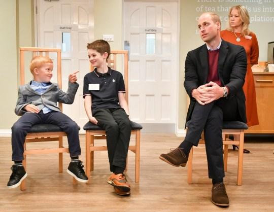Il Duca di Cambridge visita a Harcombe House