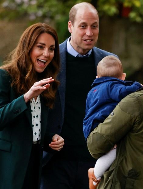 Il principe William e Catherine, duchessa di Cambridge, in Gran Bretagna, visitano lo Starbank Park, a Edimburgo