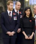 Il principe William, il principe Harry e Meghan Markle partecipano all'Anzac Day Service