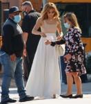 Jennifer Lopez arriva per un incontro alla Windward School di LA