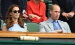 Il principe William e Kate Middleton sugli spalti del torneo di Wimbledon a Londra