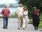 Jennifer Lopez e Ben Affleck vanno a fare una passeggiata serale negli Hamptons