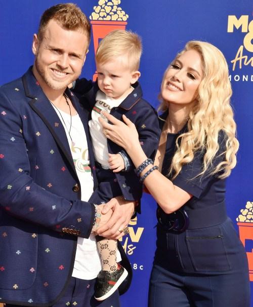 Spencer Pratt, Gunner Pratt, Heidi Montag at the MTV Movie and TV Awards 2019 in the Barker Hangar