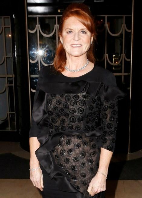 Sarah Ferguson seen at the Lady Garden Foundation Gala at Claridge's Hotel