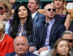 Lauren Sanchez e Jeff Bezos guardano la finale del singolare maschile di Wimbledon sul Centre Court.Londra, Regno Unito - domenica 14 luglio 2019.