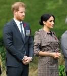 Il Duca e la Duchessa di Sussex durante una cerimonia di benvenuto a Wellington