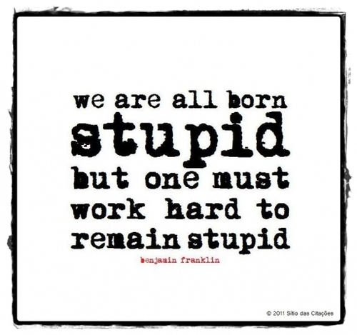 Benjamin Franklin Quote (About work hard stupid hard