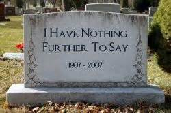 plan your epitaph