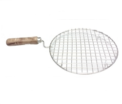 STAINLESS STEEL STOVE TOP GRILL WITH WOODEN HANDLE 8