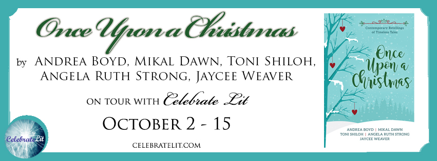 Once Upon A Christmas Facebook Banner retelling fairy tales with contemporary Christmas romance.