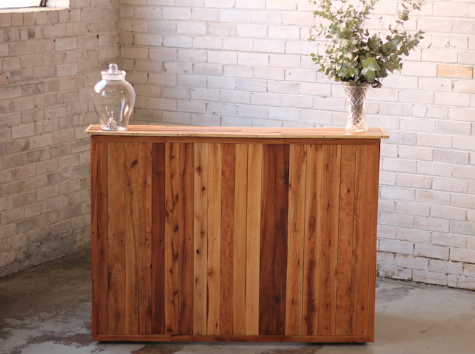 Portable Bar  Recycled Timber  Celebrate Party Hire