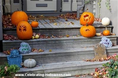 Halloween Front Steps Decoration