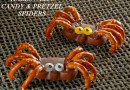 Halloween Candy and Pretzel Spiders Recipe