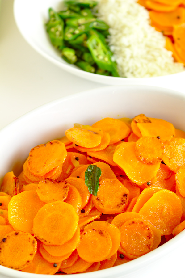 Sri Lankan carrot stir-fry