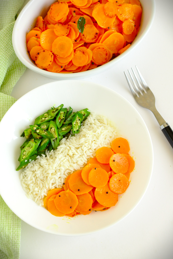 It's a Sri Lankan style carrot stir-fry recipe with a touch of spice and an excellent Vegan dish.