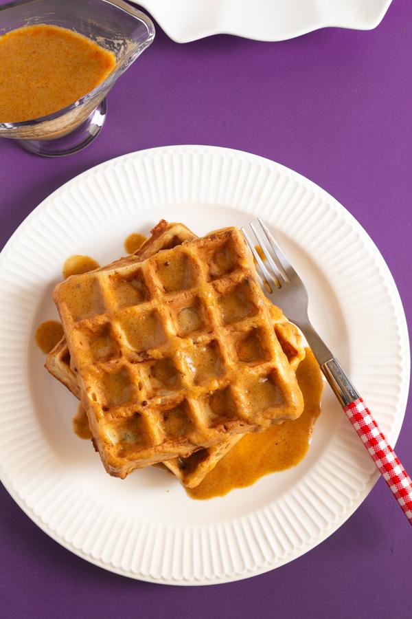 Potato waffles with Gravy
