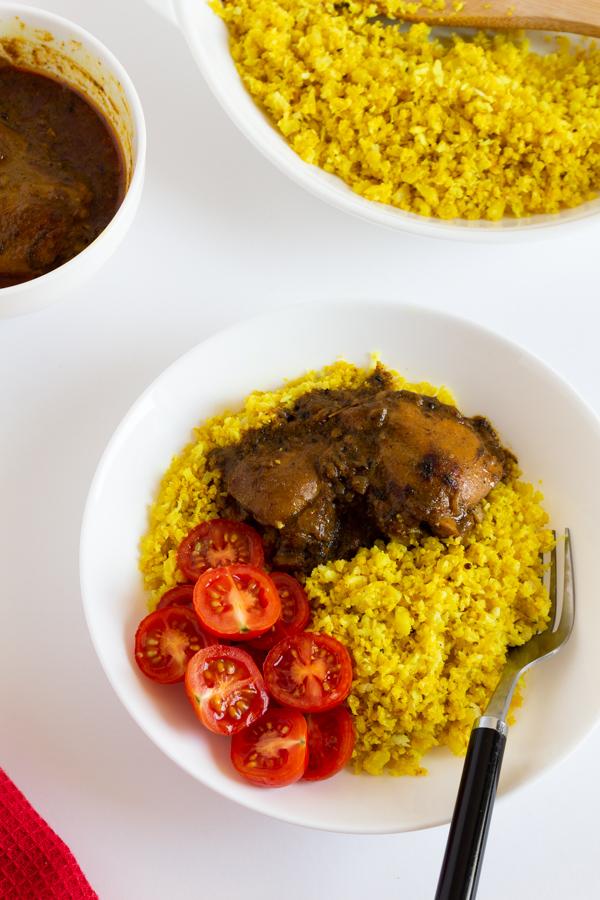 Turmeric Cauliflower Rice with Coconut