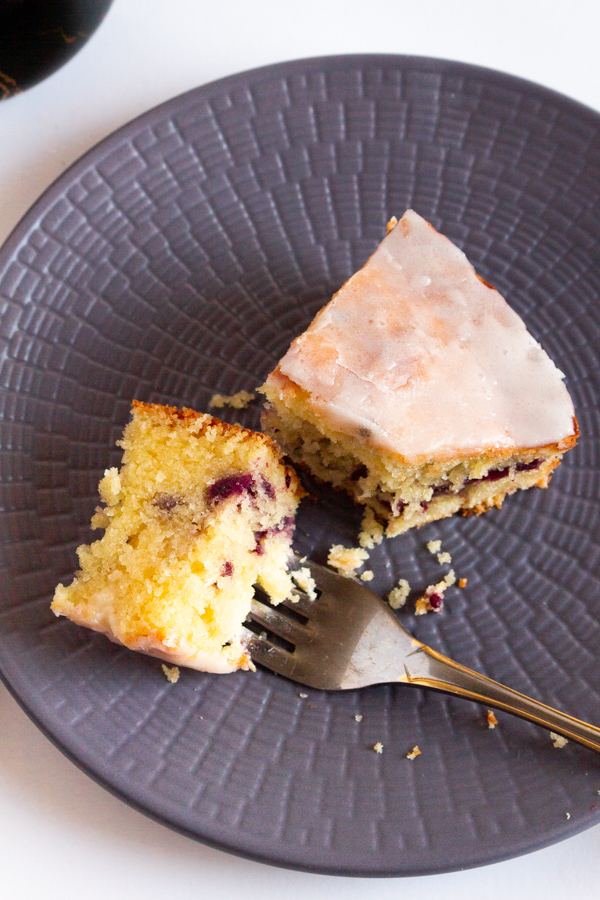 Lemon blackberry swirl cake