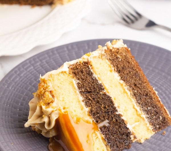 Vanilla Coffee Cake with Caramel Buttercream Recipe